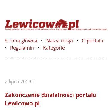 Screenshot of http://lewicowo.pl/