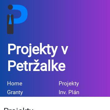 Screenshot of http://petrzalka.info/