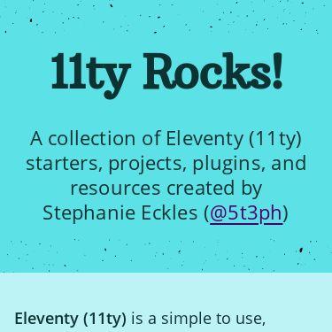 Screenshot of https://11ty.rocks/