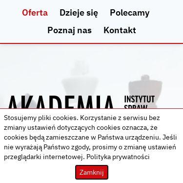 Screenshot of https://akademia.instytutsprawobywatelskich.pl/