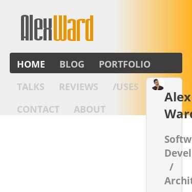 Screenshot of https://alextheward.com