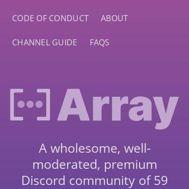 Screenshot of https://array.chat/