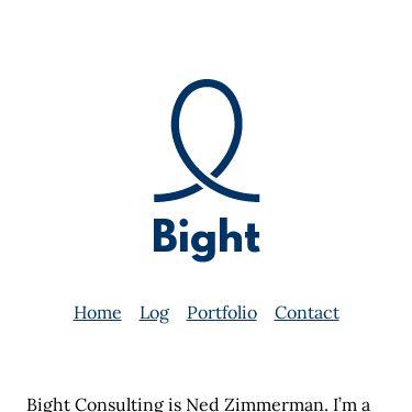 Screenshot of https://bight.dev/