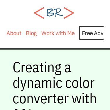Screenshot of https://bryanlrobinson.com/blog/creating-a-dynamic-color-converter-with-11ty-serverless/