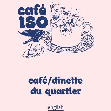 Screenshot of https://cafeiso.com/