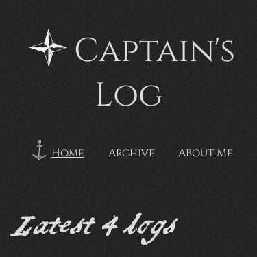 Screenshot of https://captain-log.netlify.app/
