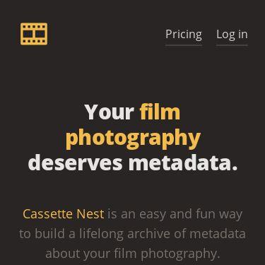 Screenshot of https://cassettenest.com/