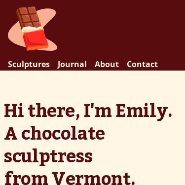 Screenshot of https://chocolatesculptress.com/