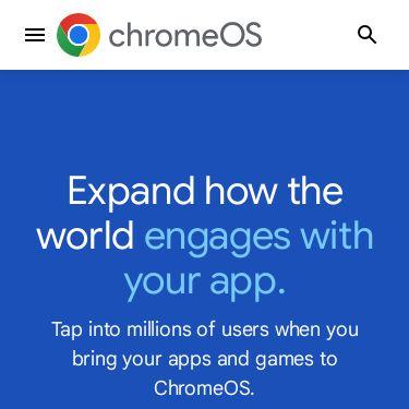 Screenshot of https://chromeos.dev/