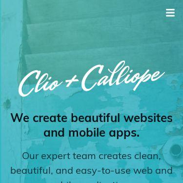Screenshot of https://clioandcalliope.com/