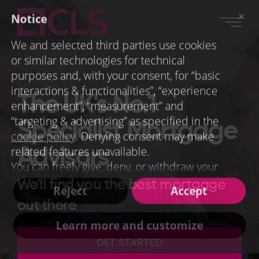 Screenshot of https://clsmoney.com/