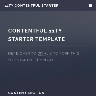 Screenshot of https://contentful.github.io/11ty-contentful-starter/