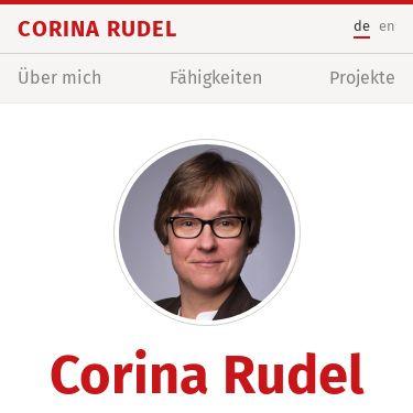 Screenshot of https://corina-rudel.de/