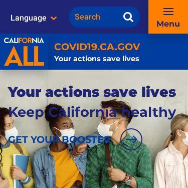 Screenshot of https://covid19.ca.gov/