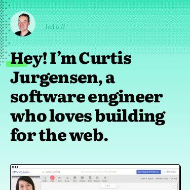 Screenshot of https://curtisjurgensen.com/