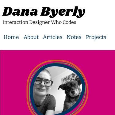 Screenshot of https://danabyerly.com
