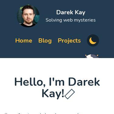 Screenshot of https://darekkay.com