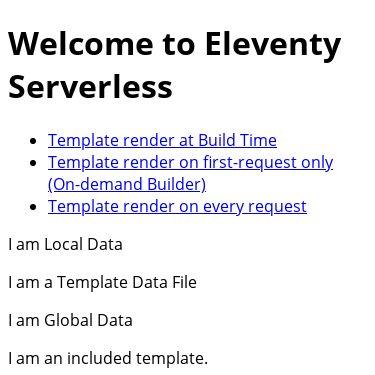 Screenshot of https://demo-eleventy-serverless.netlify.app/