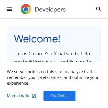 Screenshot of https://developer.chrome.com/