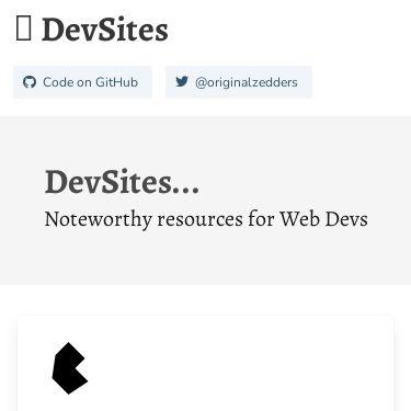 Screenshot of https://devsites.netlify.app
