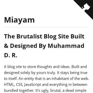 Screenshot of https://docs.miayam.io