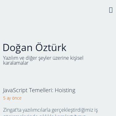 Screenshot of https://doganozturk.dev/