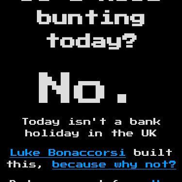 Screenshot of https://doineedbuntingtoday.com/