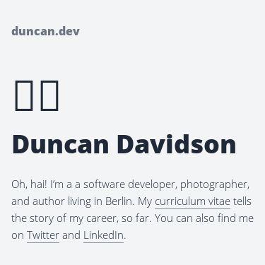 Screenshot of https://duncandavidson.com/