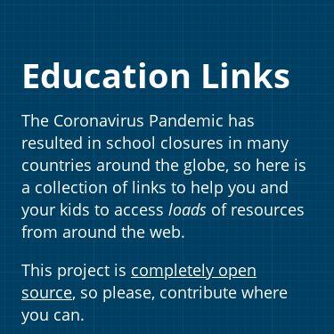Screenshot of https://educationlinks.fyi/
