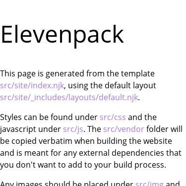 Screenshot of https://elevenpack.netlify.app/