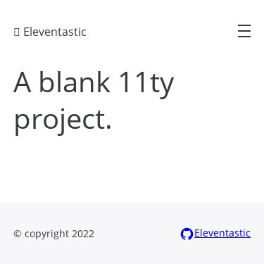 Screenshot of https://eleventastic.netlify.app/