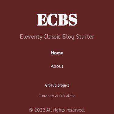 Screenshot of https://eleventy-classic-blog-starter.netlify.app/
