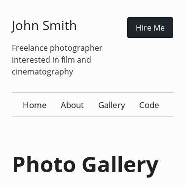 Screenshot of https://eleventy-gallery.netlify.app/