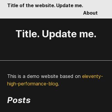 Screenshot of https://eleventy-high-performance-blog-sample.industrialempathy.com/