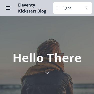Screenshot of https://eleventy-kickstart-blog.vercel.app/