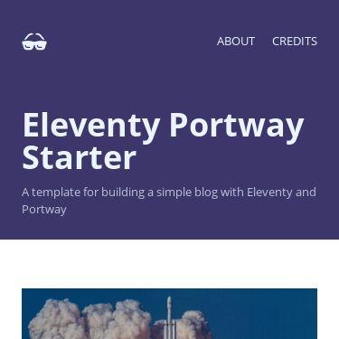Screenshot of https://eleventy-portway-starter.netlify.app/