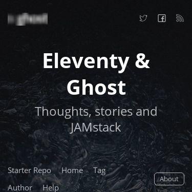 Screenshot of https://eleventy.ghost.org/
