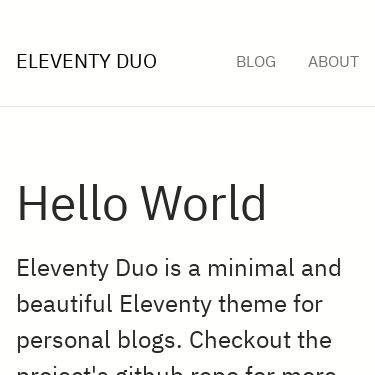 Screenshot of https://eleventyduo.netlify.app