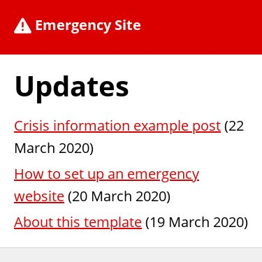 Screenshot of https://emergency-site.dev