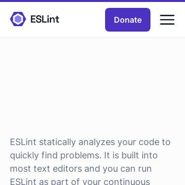 Screenshot of https://eslint.org/