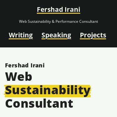 Screenshot of https://fershad.com/
