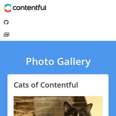 Screenshot of https://gallery.contentful.com/