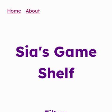 Screenshot of https://games.sia.codes/
