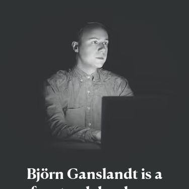 Screenshot of https://ganslandt.xyz/