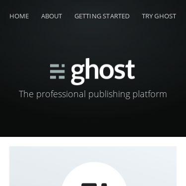 Screenshot of https://ghost-v3.netlify.app/