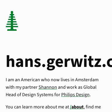 Screenshot of https://hans.gerwitz.com/