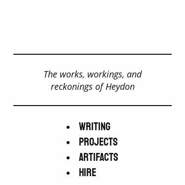Screenshot of https://heydonworks.com/