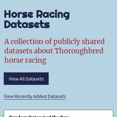 Screenshot of https://horseracingdatasets.com/