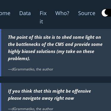 Screenshot of https://joomla-needed-fixes.netlify.app/