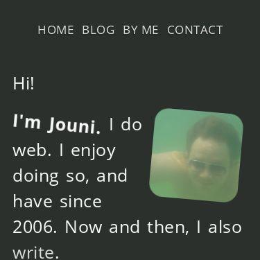 Screenshot of https://jouni.kantola.se